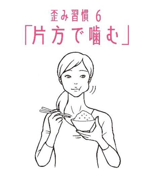 歪み習慣6 「片方で噛む」