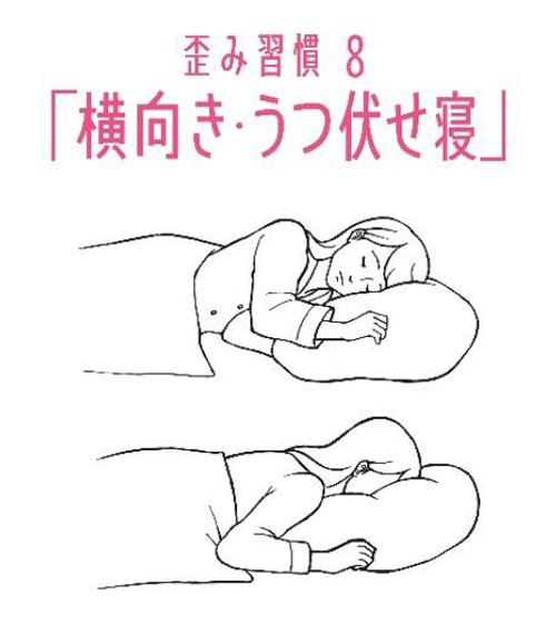 歪み習慣8 「横向き・うつぶせ寝」